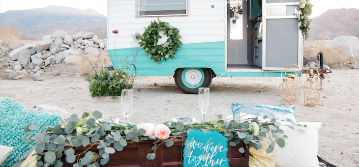 Boho Wedding Inspo with Wild + Free Photo Booth Camper