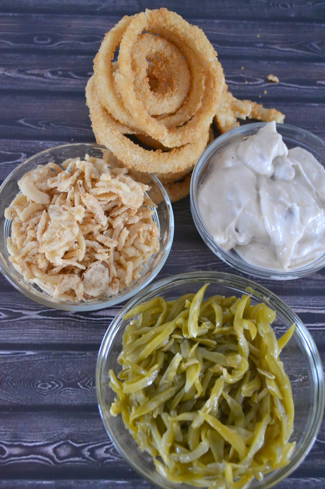 Green Bean Casserole Stuffed Onion Ring Towers | Building ...