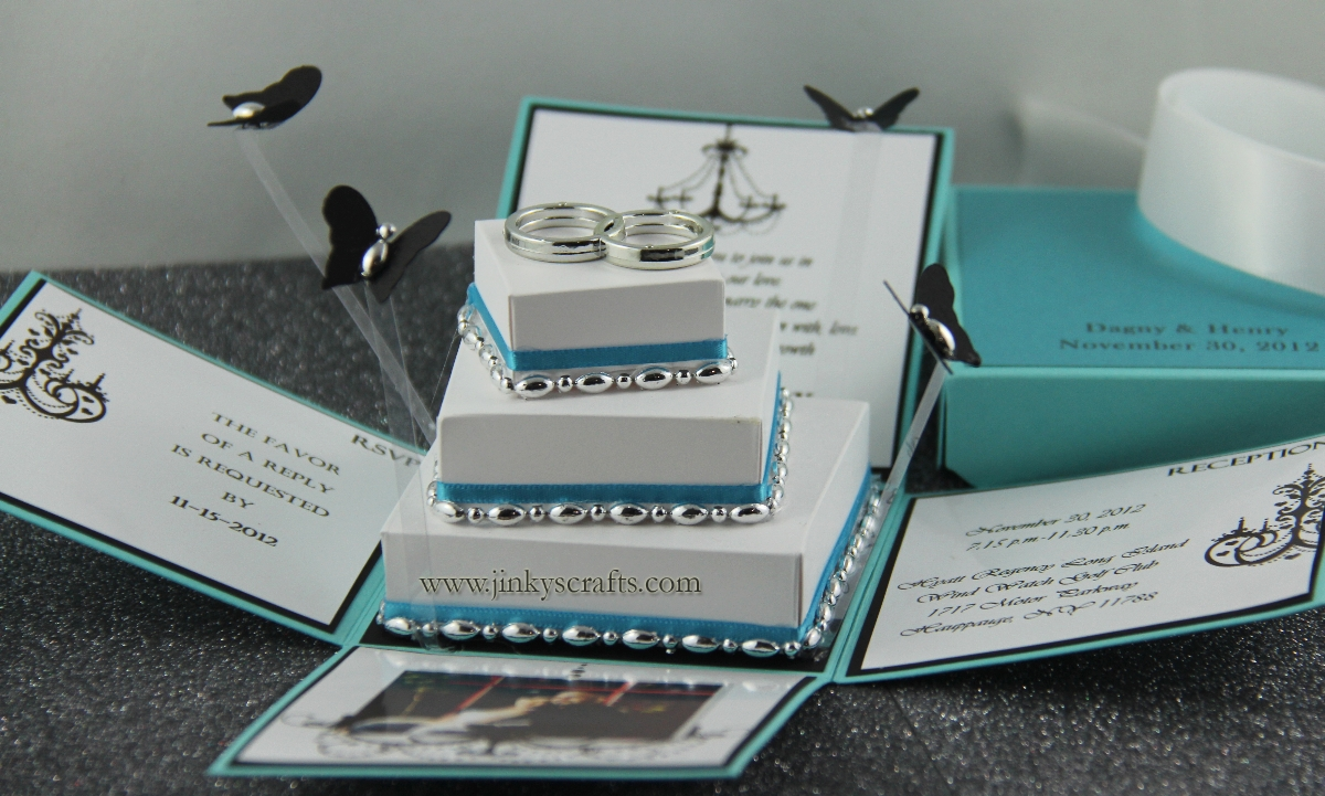Wedding Invitation In A Box: Jinky's Crafts & Designs: December 2012