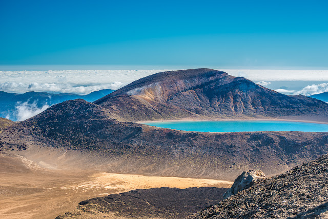 Blue Lake on Tongariro Crossing