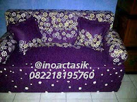 Sofa bed Inoac motif bunga ungu inoactasik