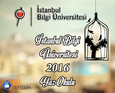 İstanbul Bilgi Üniversitesi 2016 Yaz Okulu