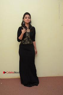 Telugu Actress Manasa Manohar Stills in Black Long Dress at Naku Nene Thopu Turumu Trailer Launch  0015.JPG