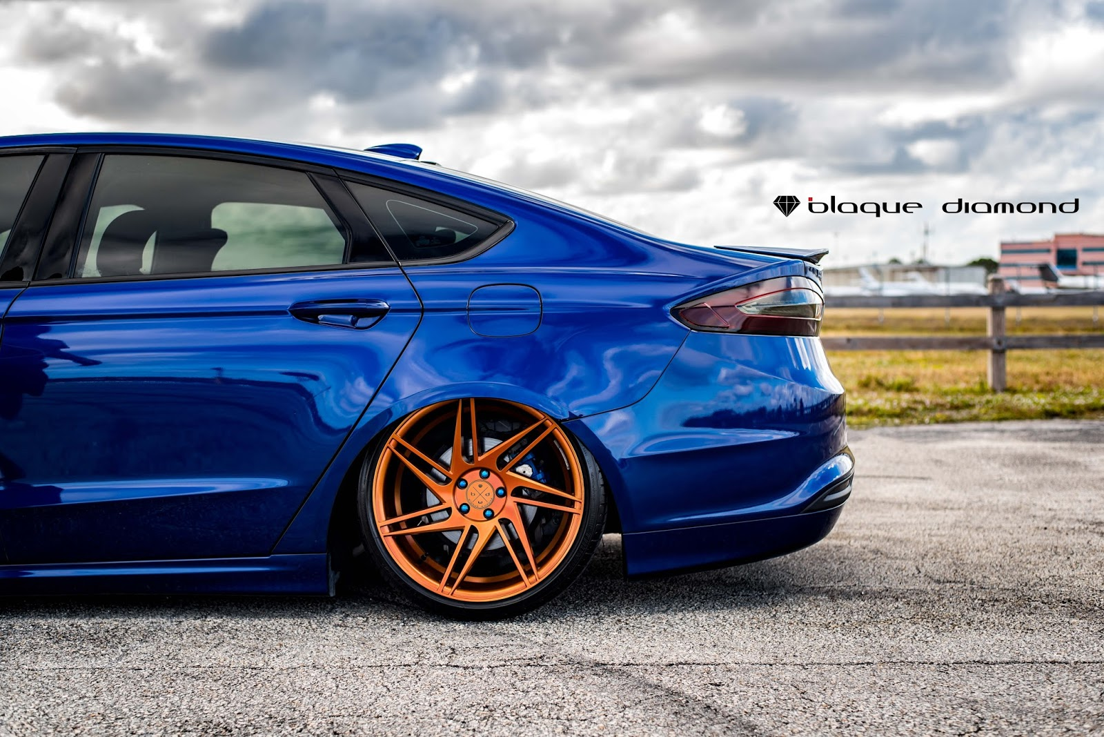 2014 Ford Fusion Fitted With 20 Inch Bd1 S In Trans Copper