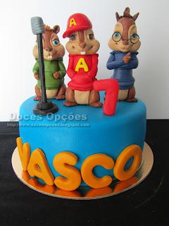 O Alvin e os Esquilos foram actuar no 7º aniversário do Vasco