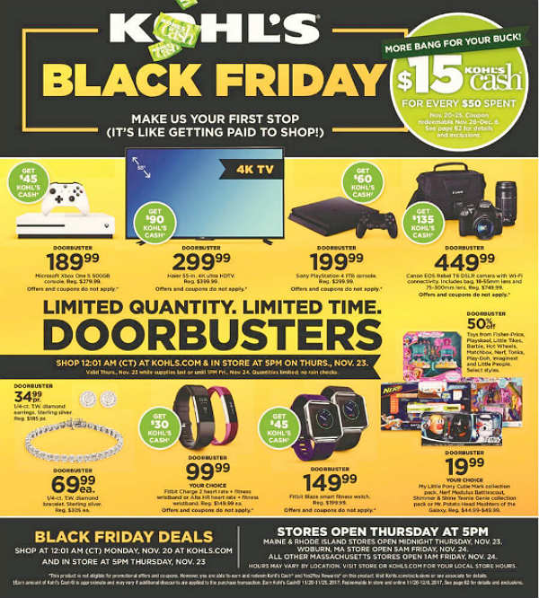 Kohl's Black Friday 2017 Ad