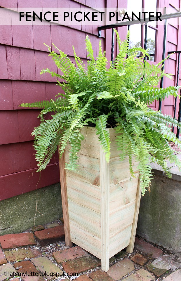 tall cedar fence picket planter