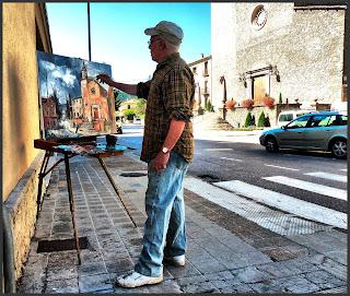 CAMPDEVÀNOL-PINTURA-GIRONA-PINTANDO-IGLESIA-PAISAJES-FOTOS-ARTISTA-PINTOR-ERNEST DESCALS-