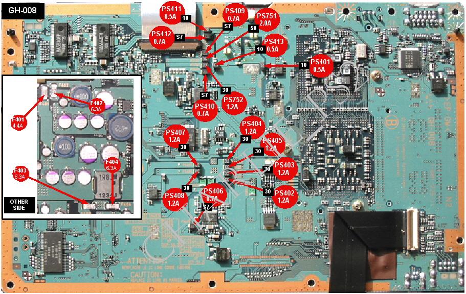 ps2 board diagram Diagram of Nintendo DS skema fuse main board playstation2