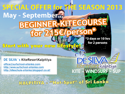 Kiteboarding beginner courseSri Lanka