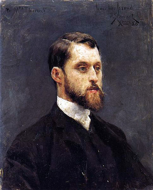 Julius LeBlanc Stewart, Self Portrait, Portraits of Painters, Fine arts, Julius LeBlanc