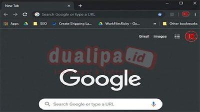 Dark mode google search desktop uji coba