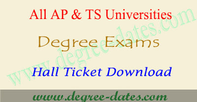 Degree hall tickets university ug exam admit card download