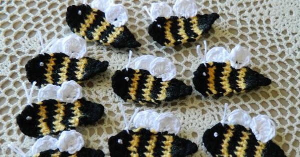 084289b6d crochet d lane: Free Bumble Bee Appliqué Pattern