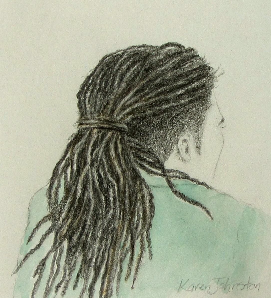 Рисованные, рисунок с дредами