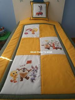 Edredon cama baby warner