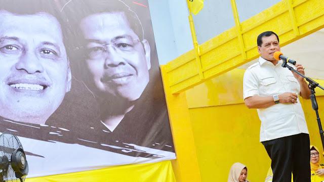 Nurdin Halid: Airlangga Jadi Ketum Golkar Cuma Sampai 2019