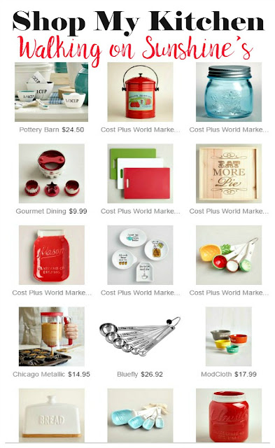 Check out the items in my Kitchen Shop from Walking on Sunshine Recipes