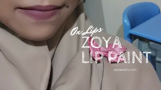 On Lips - Zoya Lip Paint Cinnamon