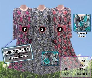 Berbagai pilihan gamis jersey motif dijual murah 75ribu