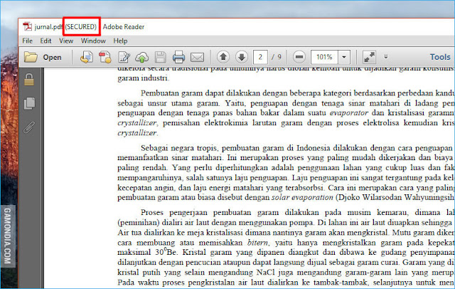 Cara Mebuka Secure dan Password File PDF