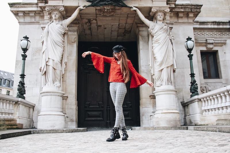 street style blog mode tendance prince de galle dentelle rouge micro influenceur 2018