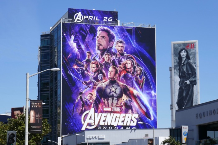 Giant Avengers Endgame billboard