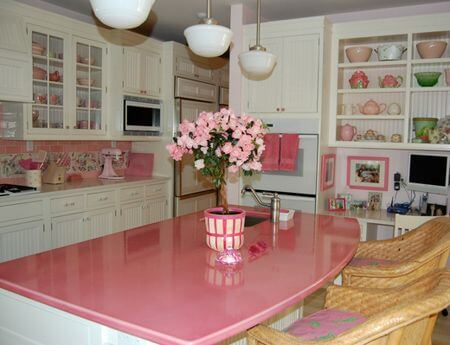 Good Pink Marble Kitchen Countertops Picture