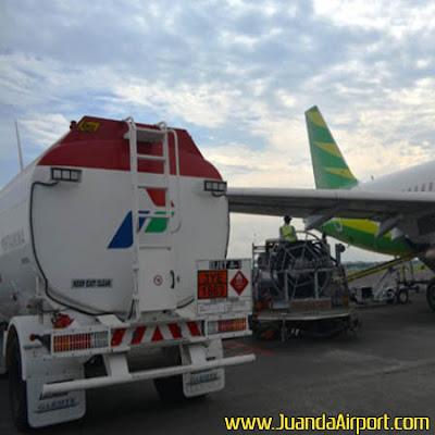 Konsumsi bahan bakar avtur di Bandara Juanda pada libur Natal dan Tahun Baru diprediksi naik 33 persen. Kenaikan ini karena adanya extra flight dari beberapa maskapai penerbangan.