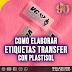 Etiquetas para ropa en transfer plastisol