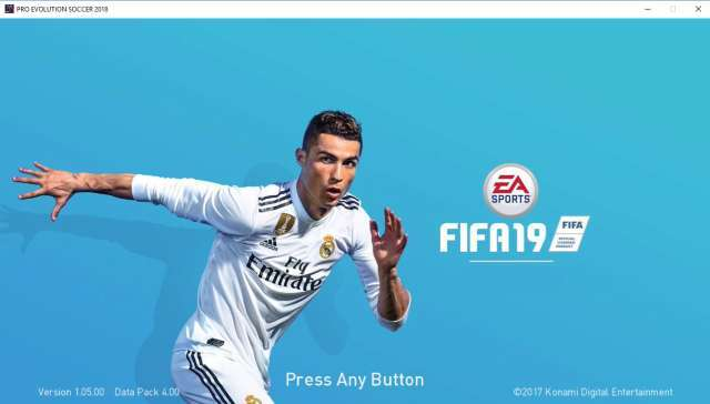 FIFA 19 Start Screen For PES 2018