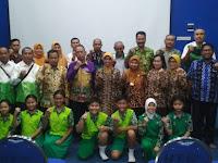 Tim Pembina UKS HSU Sambangi UKS Percontohan Nasional di Kabupaten Sidoarjo. Kadisdik H Rahmat Pimpin  Rombongan