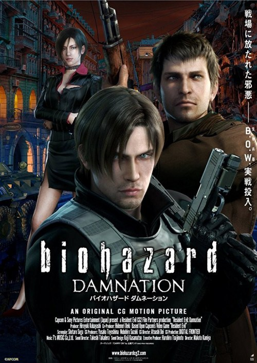 Resident Evil Damnation 2012 720p Bluray x264 Dual Audio ESub [Hindi + English] Download  Watch Online Full Movie