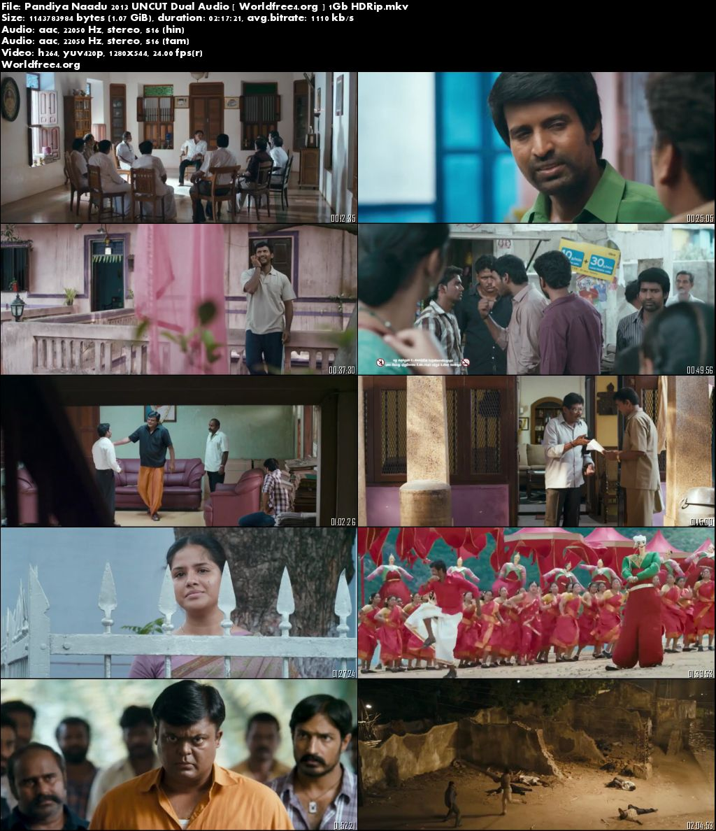 Pandiya Naadu 2013 HDRip Dual Audio 400MB Download 480p Download