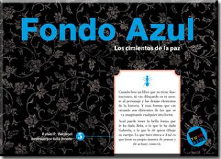 """""""Fondo Azul Los cimientos de la paz palabras aladas rafael r valcárcel lo que leo"""""""