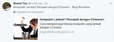 share twitter posting blog