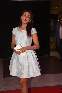Actress Madhu Shalini Pictures in White Short Dress at Cancer Crusaders Invitation Cup 2016 0028