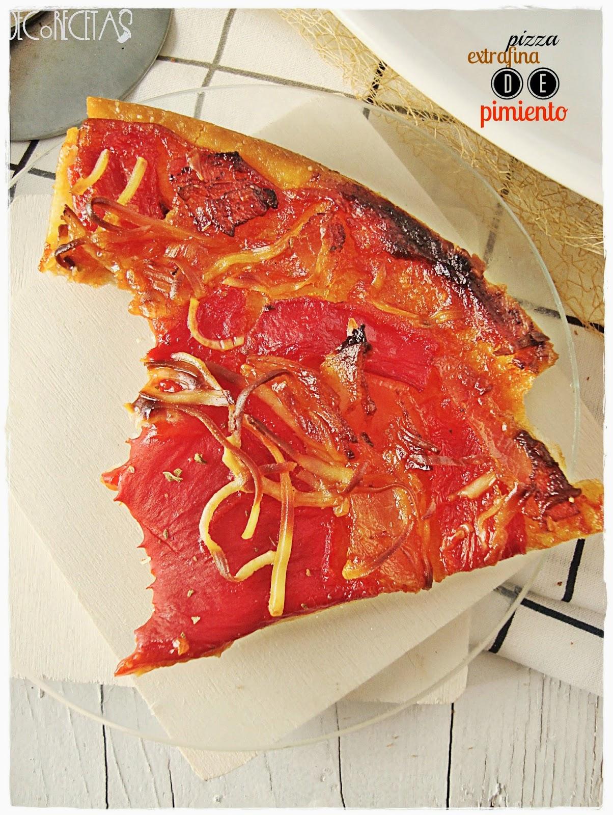 Pizza extrafina de pimiento