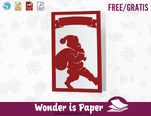Tarjeta Navideña básica con Papá Noel