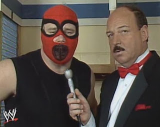 WWF (WWE) WRESTLEMANIA 1: The Executioner gives his tactics away to Mean Gene Okerlund