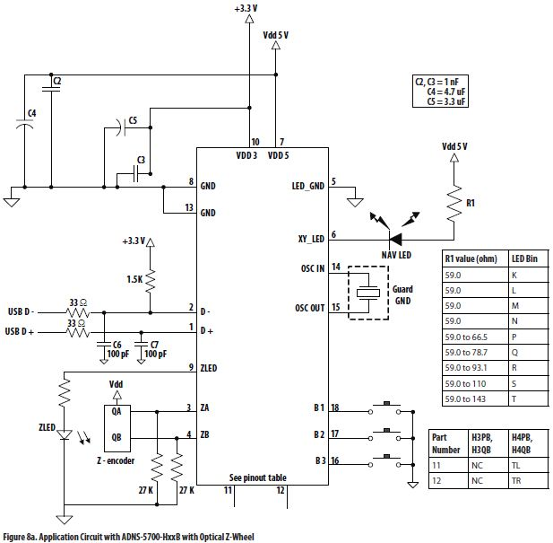 Optical Mouse Circuit Diagram