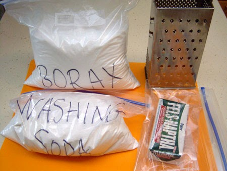 Homemade Custom-Scented Liquid Laundry Detergent supplies