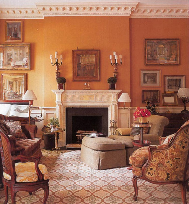 Wall Colour Inspiration: Kensington Bliss: Tangerine Tango