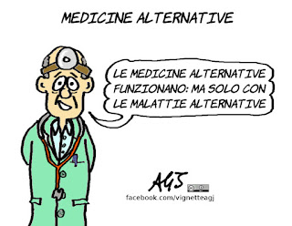 medicina, salute, sanità, medicine alternative, satira, vignetta