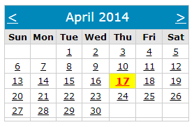 How to show only current month's date in calendar control