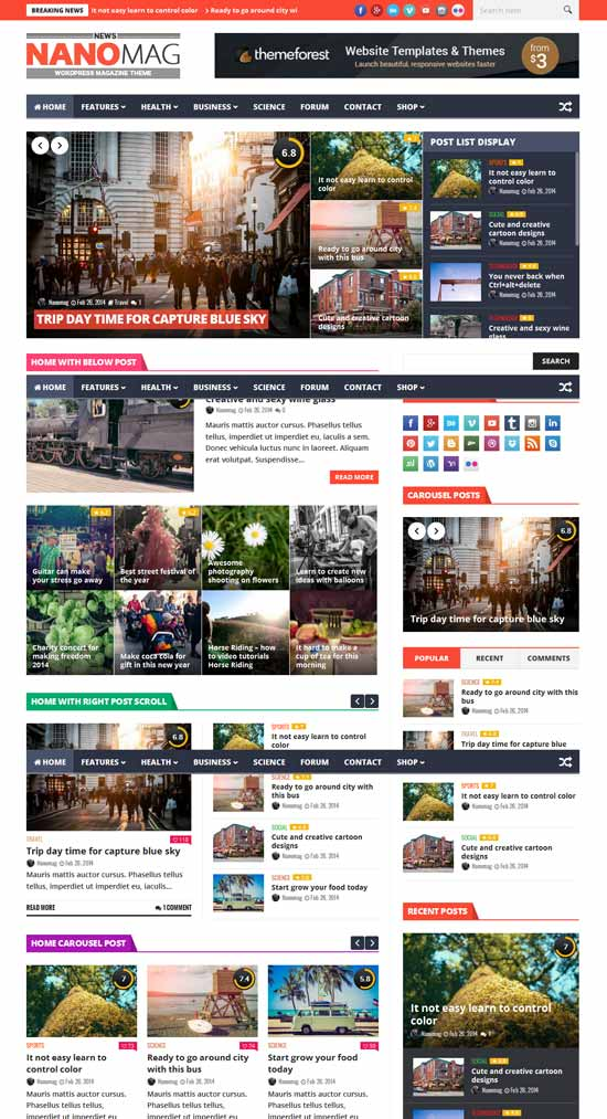 25+ Best Free and Premium Hand-picked Responsive Wordpress Magazine ...