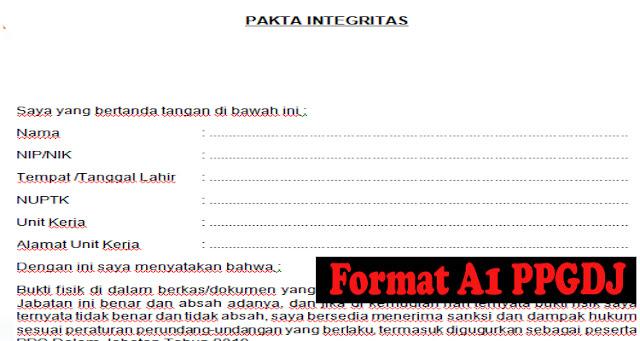 Penjelasan Lengkap Format A1 PPGDJ - Sergur