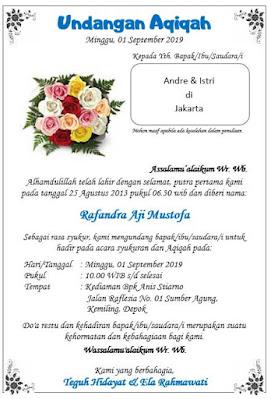 template undangan aqiqah