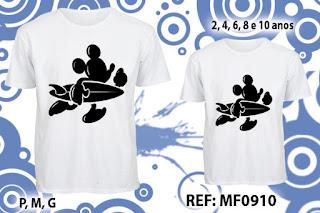 Tal Pai Tal Filho Camisetas Personalizadas mickey
