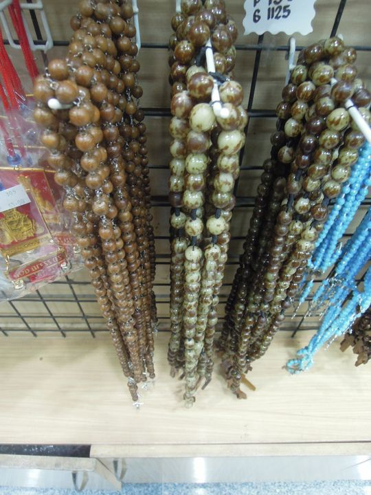 Rosaries being sold in Cebu City